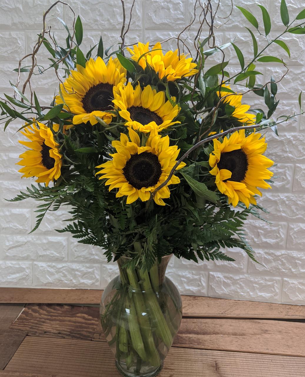 Long Stem Sunflower Arrangement
