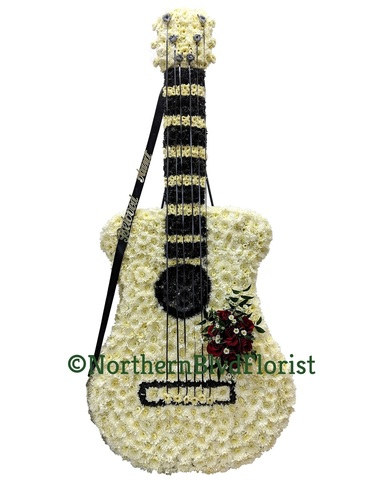 Guitar- Custom Funeral Flowers