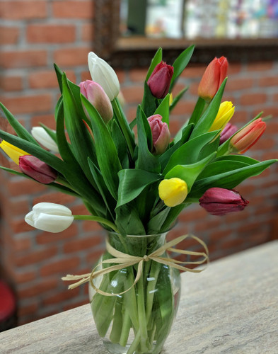 Mixed Vased Tulips