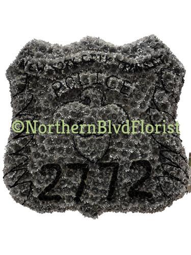 Custom Police Badge Funeral Arrangement
