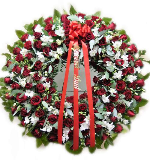 Rose and Orchid Wreath