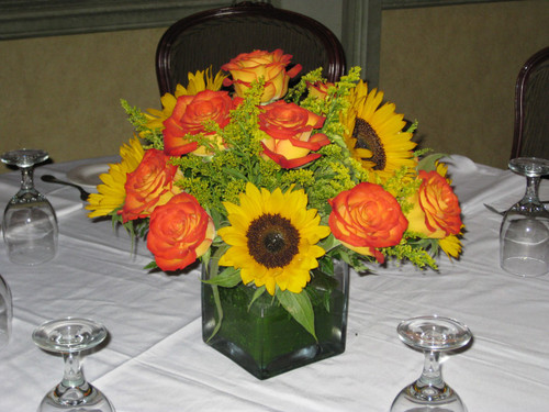 Circur Roses and Sunflower