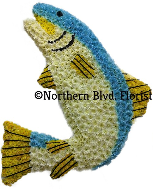 Custom Fish Funeral Piece