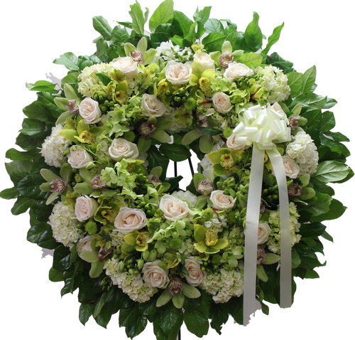 Shades of Green Wreath