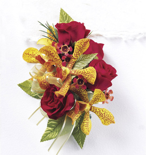 Orchid Rose Wrist Corsage