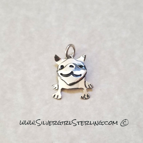 Pug Pendant  | Sterling Silver Animal & Pet Jewelry