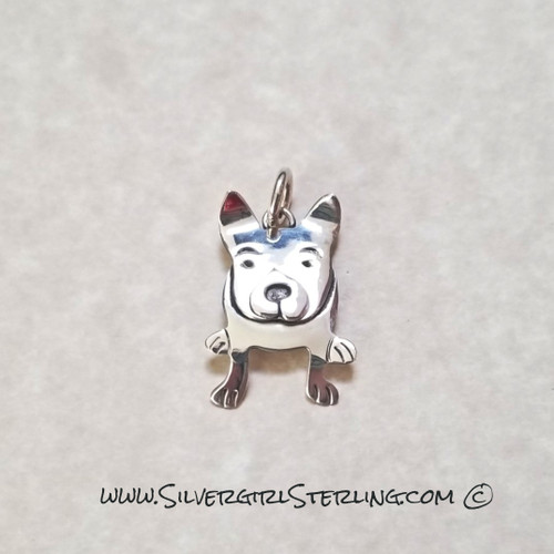 French Bull Dog Pendant    Sterling Silver Animal & Pet Jewelry