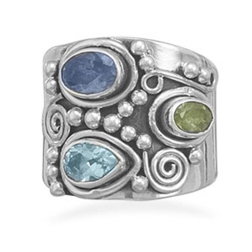 Be Jeweled Ring  |  Sterling Silver & Gemstone Jewelry