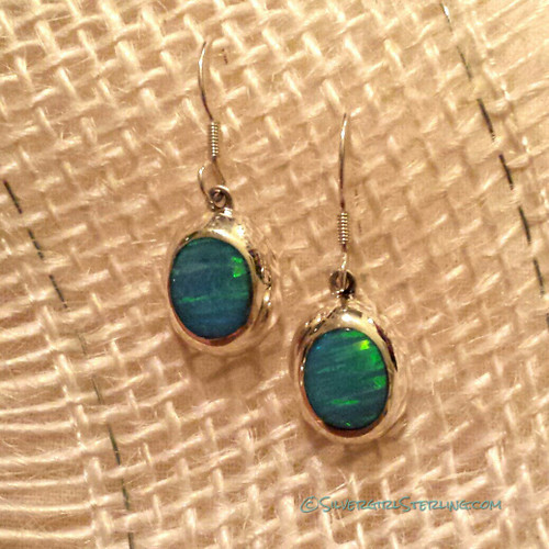 Opal Essence Earrings in Blue Opal