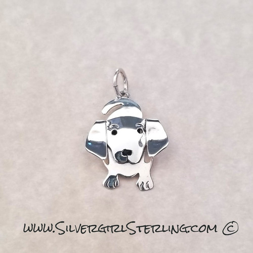 Dachshund Pendant  | Sterling Silver Animal & Pet Jewelry