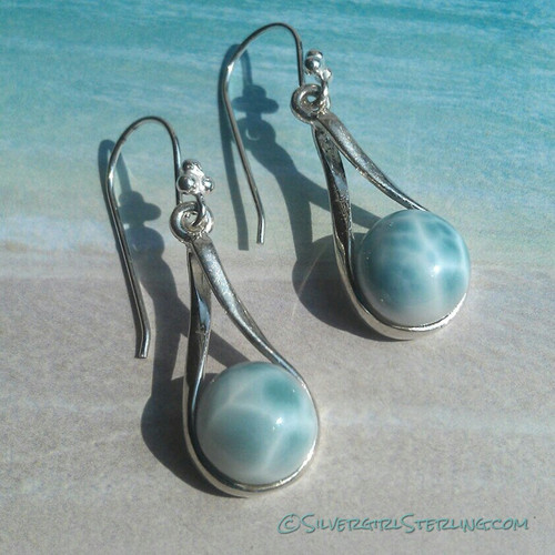 Island Girl Larimar Earrings