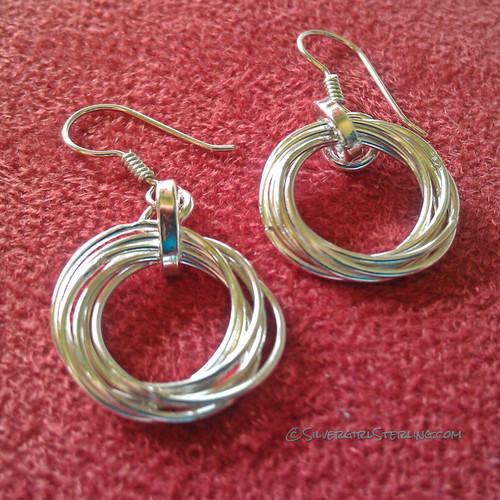 Multi-wire Circles Earrings