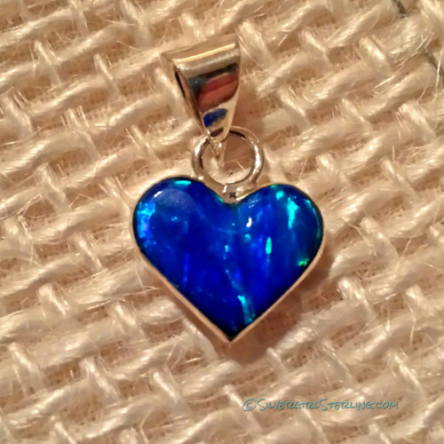 Lighthearted Necklace in Dark Blue Opal (shown without accompanying Box Chain)