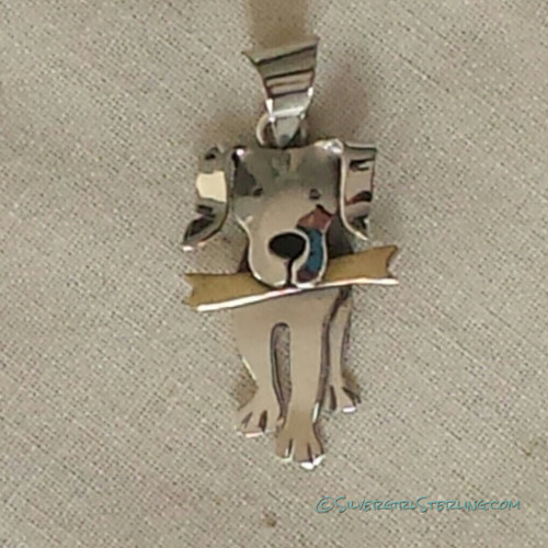 Dog with Bone Pendant