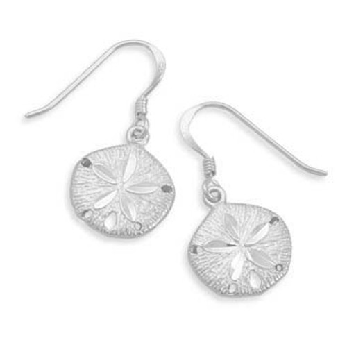 Diamond Cut Sand Dollar Earrings
