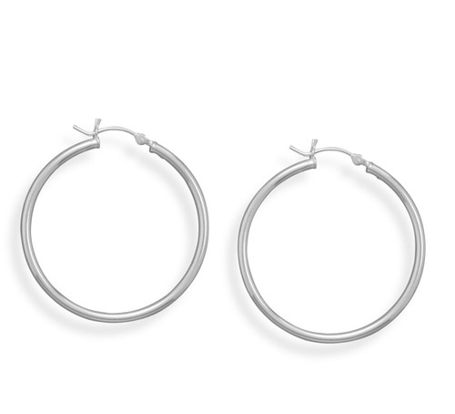 Hoop Earrings with Click 2mm x 35mm