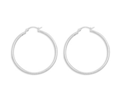 Hoop Earrings with Click 2mm x 40mm