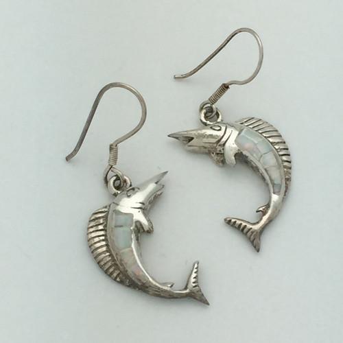 Opal Sailfish Earrings (Multiple Colors)