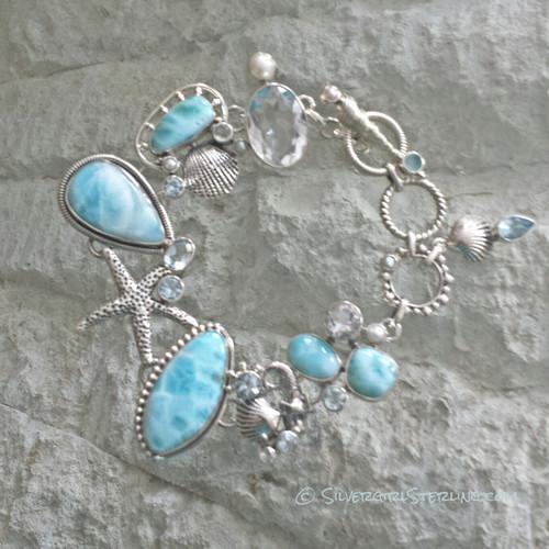 Ocean Gems Bracelet in Larimar