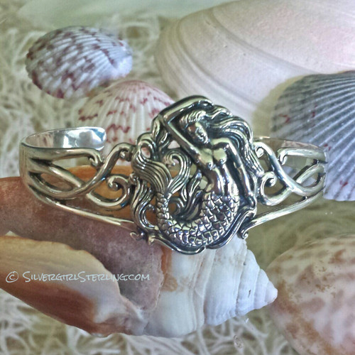 Silvergirl Mermaid Cuff Bracelet | Sterling Silver Jewelry