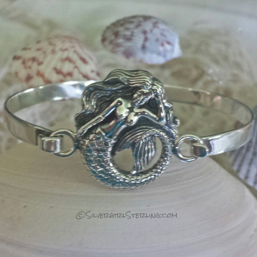 Mermaid Bangle Cuff Bracelet