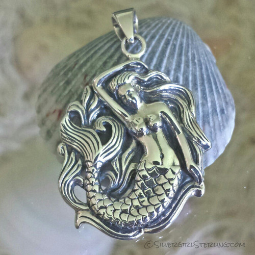 Silvergirl Mermaid Pendant