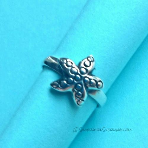 Silver Starfish Toe Ring