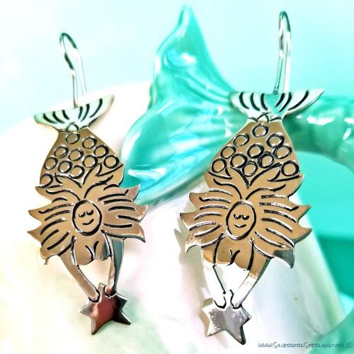 Ondine Earrings (Diving Mermaid with Star)