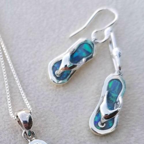 Opal Flip Flop Earrings