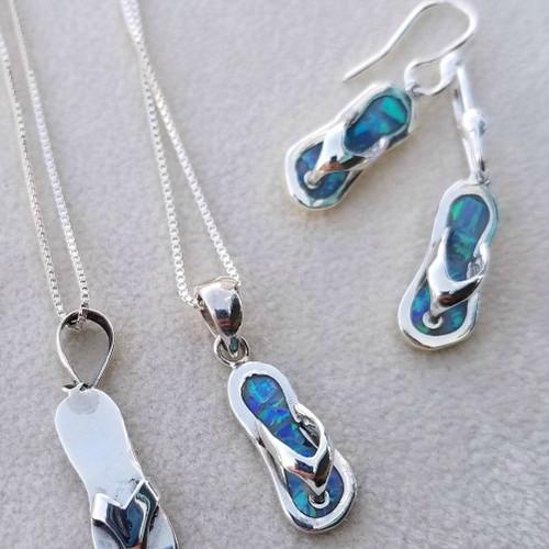 Opal Flip Flop Necklace