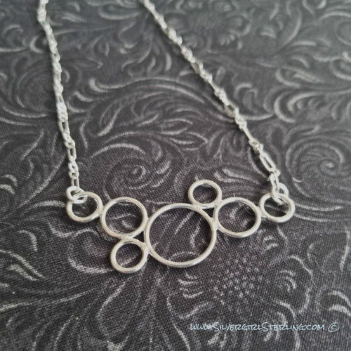 Tiny Bubbles Necklace  |  Classic Sterling Silver Necklace