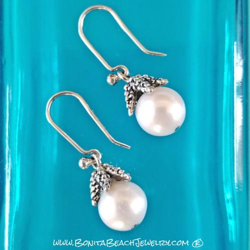 Little Starfish Pearl Earrings | Sterling Silver & Pearl Earrings