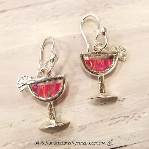 Cocktail Glass Earrings