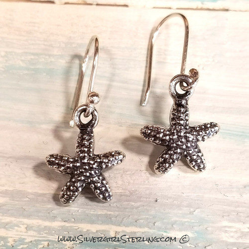 Oxidized Starfish Earrings (PF&F)