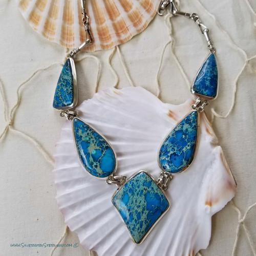 Aqua Terra Jasper Necklace   One-Of-A-Kind Necklaces