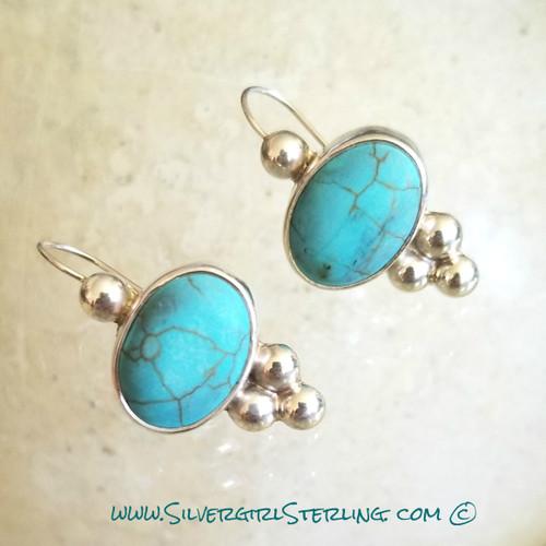 Embellished Turquoise Earrings
