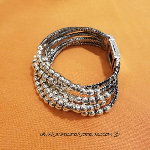 Abacus Six Strand Bracelet