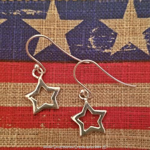 Starlight Open Star Earrings