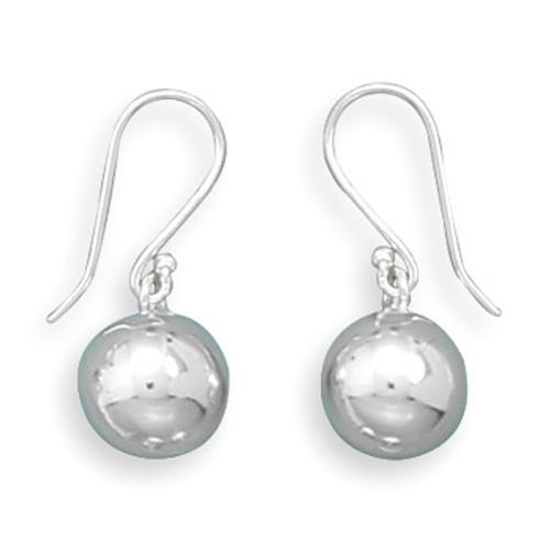 Silver Ball Drop Earrings