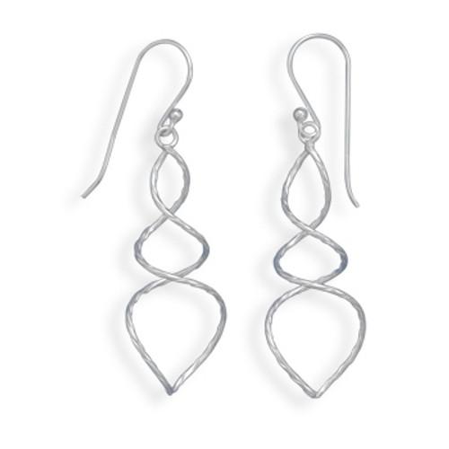 Thin Twist Wire Earrings