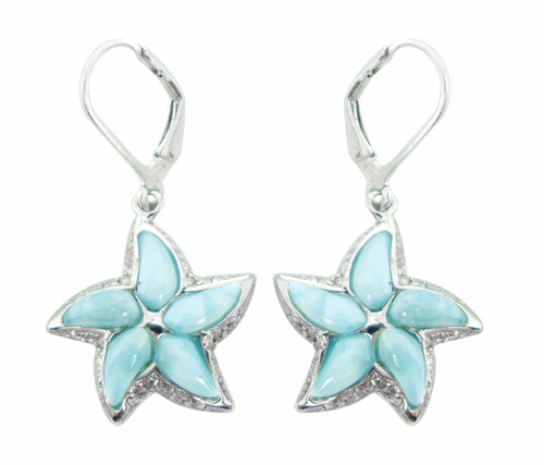 Larimar Starfish LB Earrings