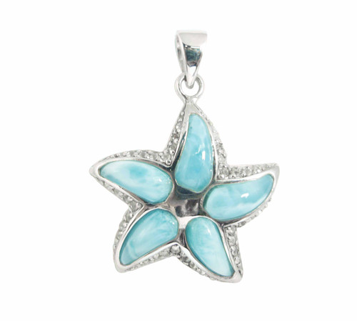 Larimar Starfish Pendant (2 Sizes)