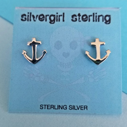 Anchor Tiny Post Earrings