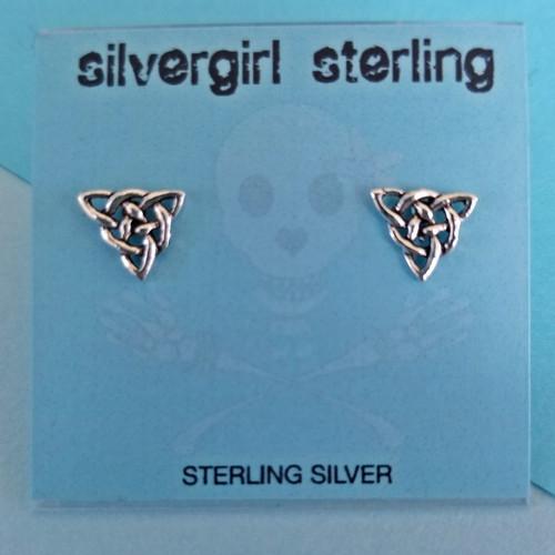 Celtic Triangle Tiny Post Earrings