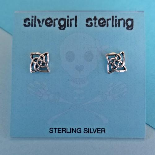 Celtic Quad Tiny Post Earrings