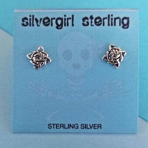 Celtic Square Tiny Post Earrings