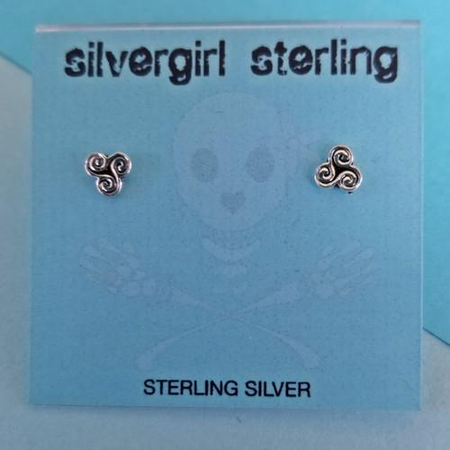 Celtic Swirl Tiny Post Earrings