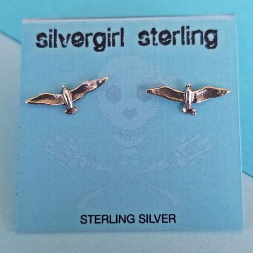 Seagull Tiny Post Earrings