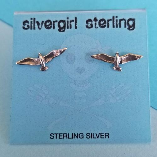 Seagull Tiny Post Earrings