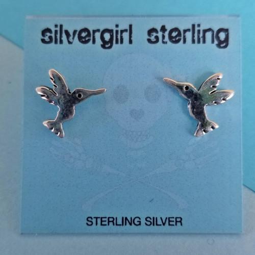 Hummingbird Tiny Post Earrings